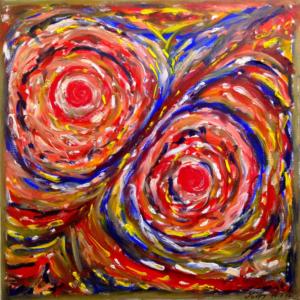 CELLULE Olio su tela dim. 60x60 La magia della vita. 14/01/2014