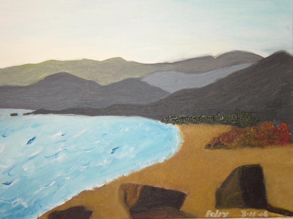 CORSICA DI CORSA Olio su tela 40x30  Dolce ricordo dell' isola dei mori. 03/11/2004