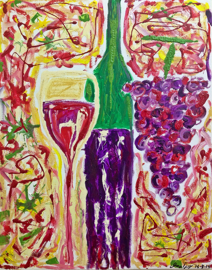 SAPORE ROSSO Olio e smalti su tela dim. 40x50 Schizzi di vita e gusto… 14/07/2014
