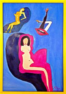 SOGNI DISORDINATI  Olio su tela 60x40  Ombre femminili che vivono nei sogni. 28/10/2012
